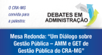 CRA-MG promoverá debate sobre gestão pública