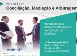 [ CRA-AC ] CRA-AC realizará curso sobre Mediação e Arbitragem