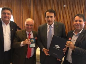 Presidente do CFA reúne-se com Deputado Gaguim