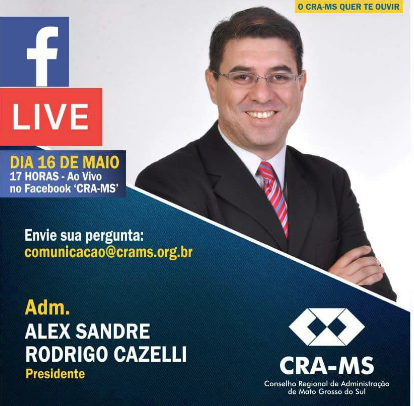 [ CRA-MS ] CRA-MS convida para live no Facebook