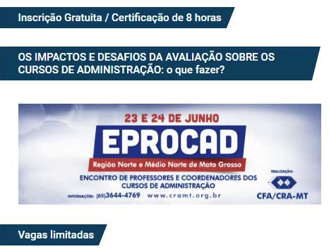 [ CRA-MT ] EPROCAD-MT começa amanhã