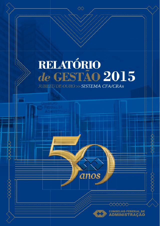 Relatório de gestão 2015