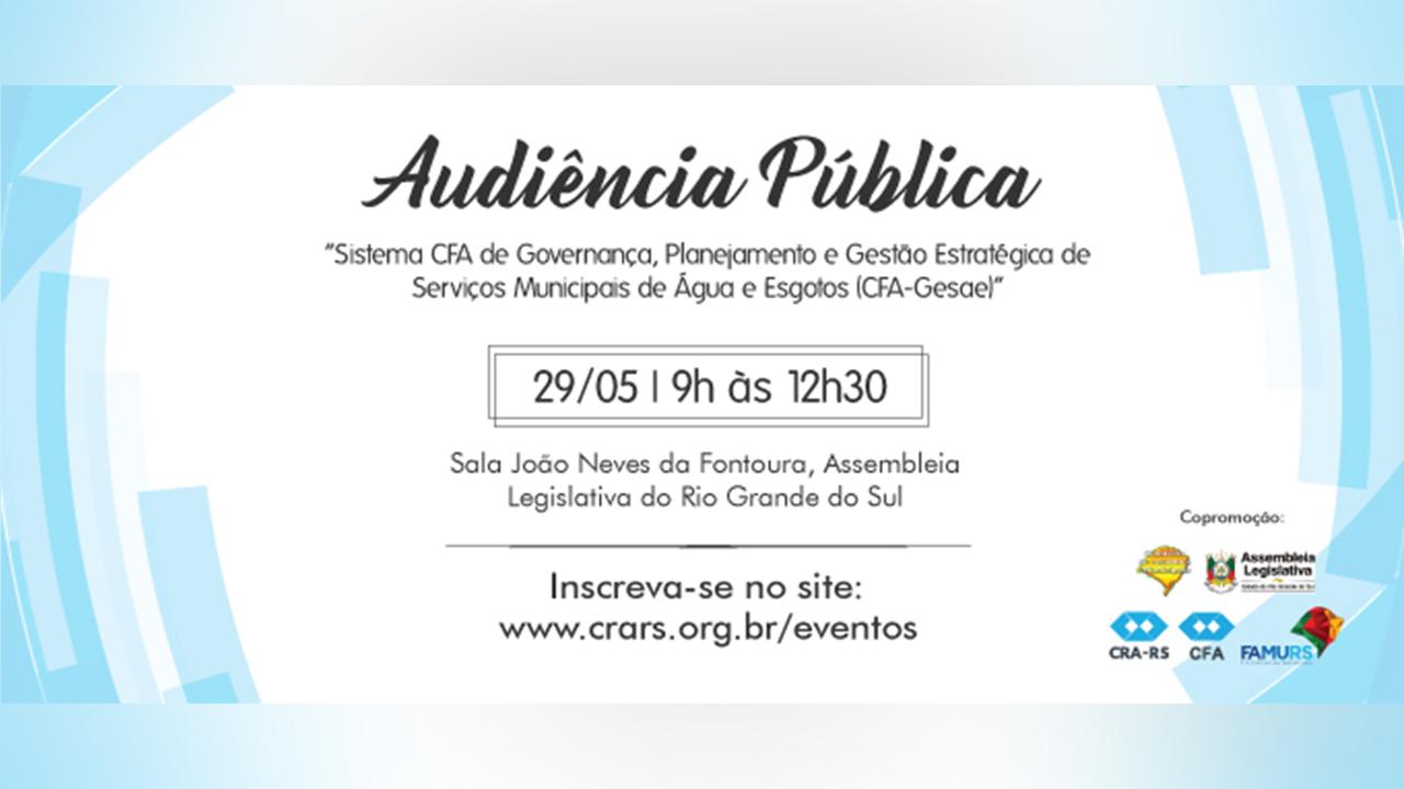 CFA-Gesae é pauta em audiência pública na ALRS