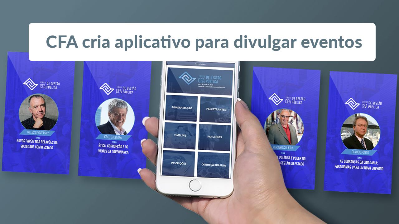 CFA cria aplicativo para divulgar eventos