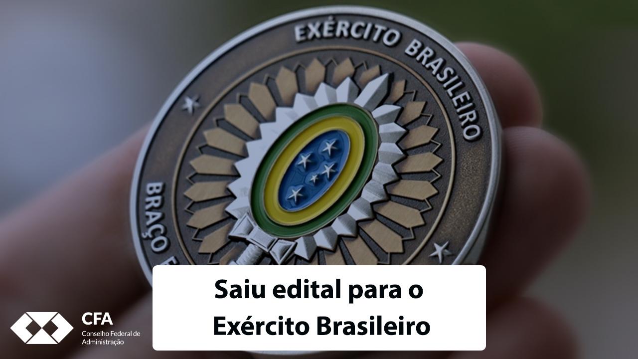 Ótima oportunidade para administradores: saiu edital para o Exército Brasileiro