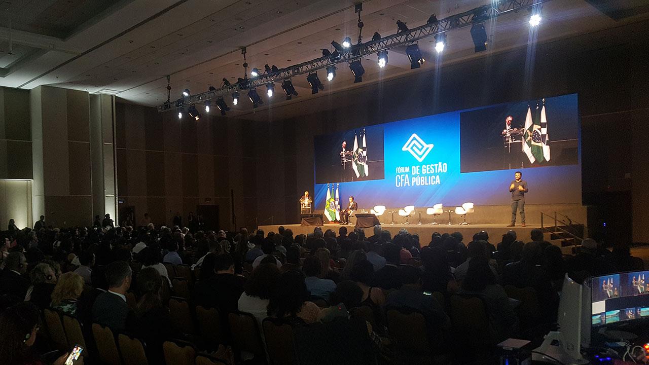 Abertura do Fórum CFA de Gestão Pública reúne cerca de 800 pessoas