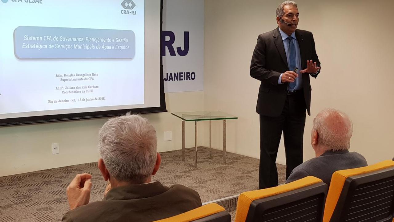 CFA-Gesae é tema de palestra no CRA-RJ