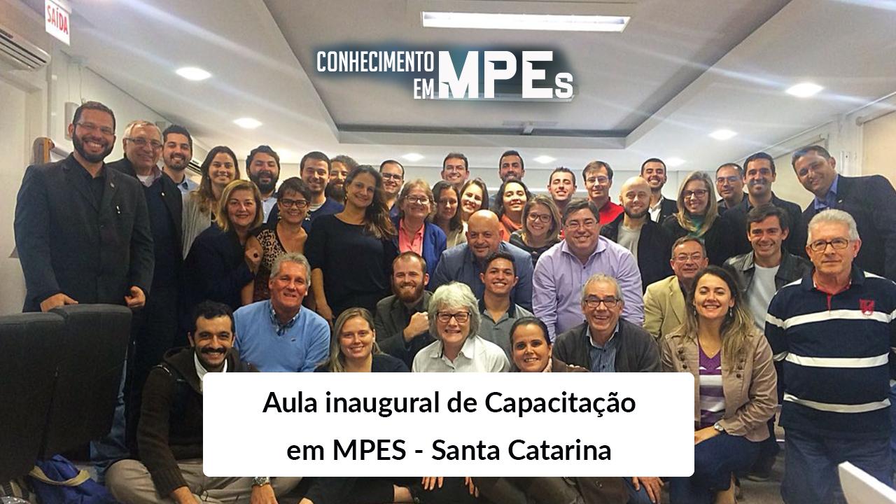 Aula inaugural de Capacitação em MPEs é ministrada em SC