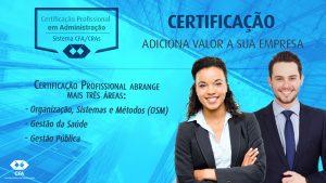 Certificação Profissional abrange mais três áreas