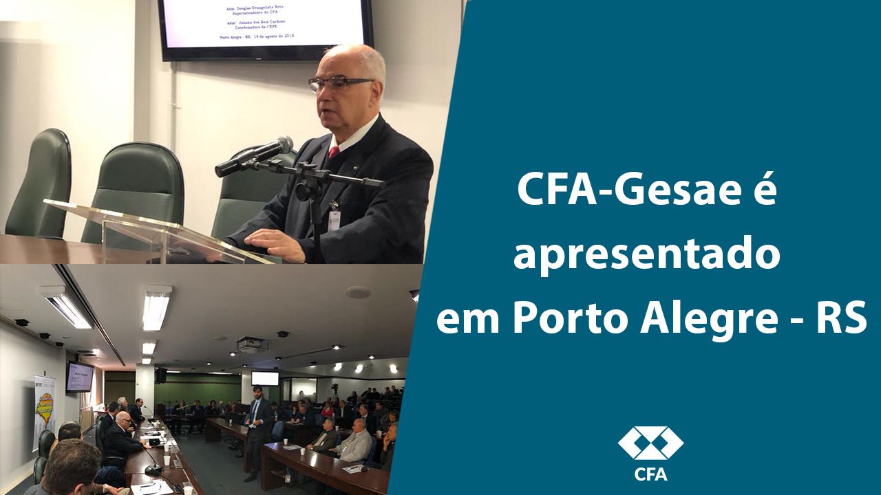 Autarquia apresenta CFA-Gesae em audiência pública em Porto Alegre