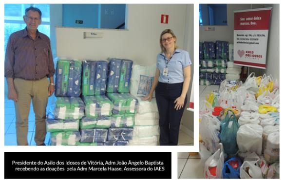 Instituto de Administração promove doação de alimento e item de higiene
