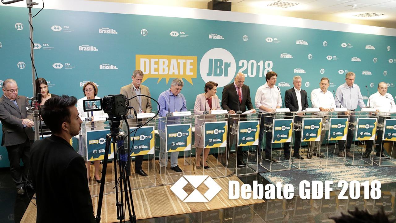 CFA e JBr. reúnem candidatos ao GDF em debate
