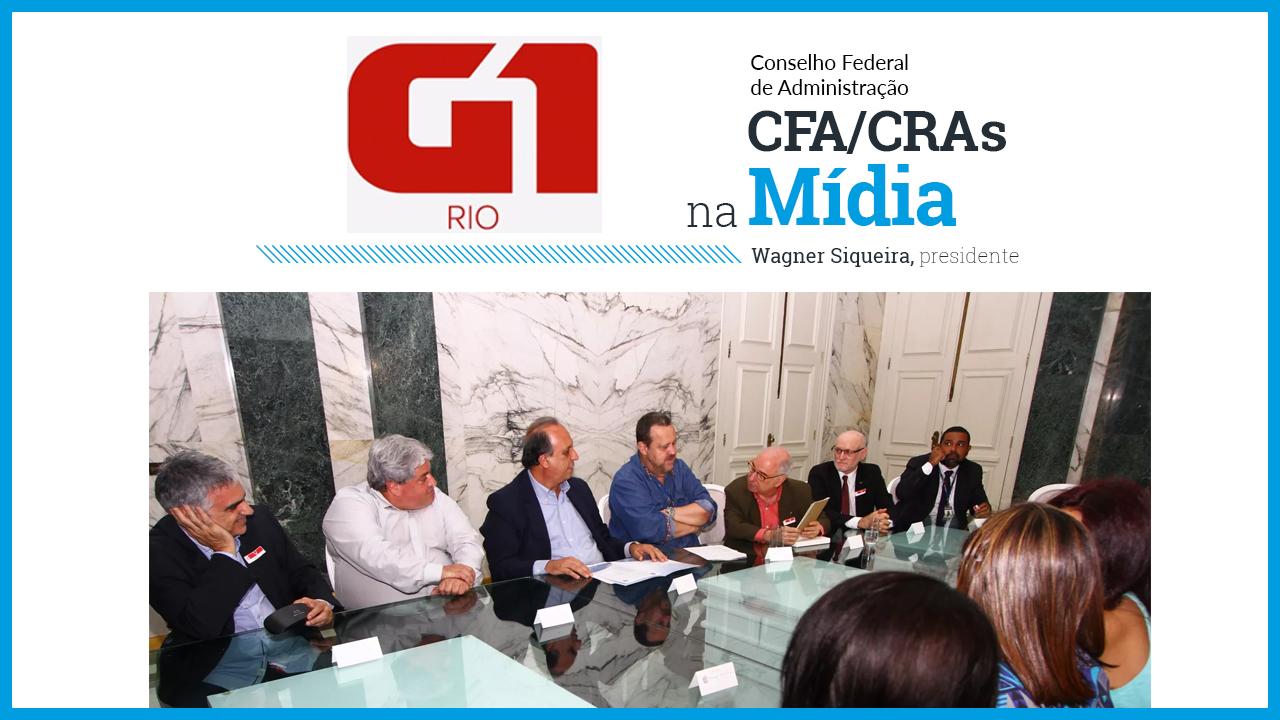 Governador do Rio de Janeiro recebe os presidentes do CFA e CRA-RJ