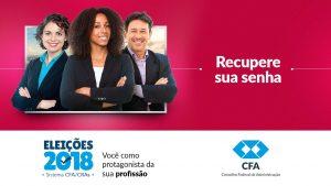 Eleições do Sistema CFA/CRAS: recupere sua senha antes da votação
