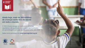 Educação de qualidade é o quarto Objetivo de Desenvolvimento Sustentável