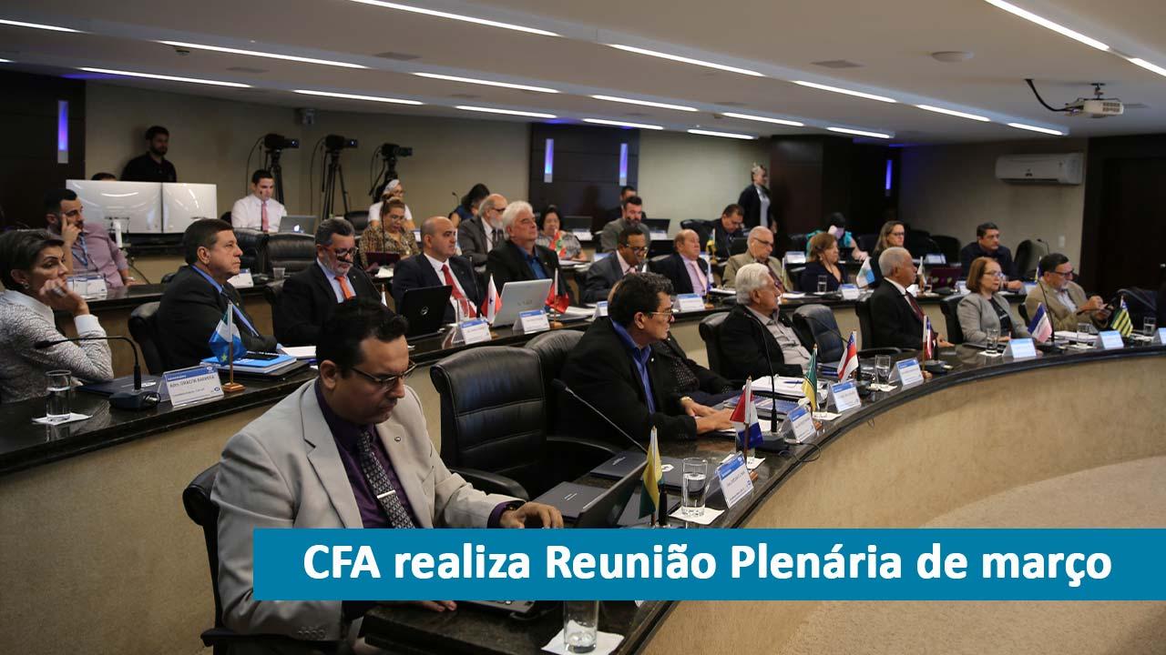 CFA sedia reunião plenária de março
