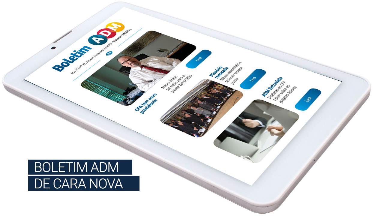 Boletim ADM de cara nova – publicação ganha novo layout