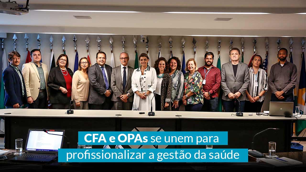 CFA e OPAs se unem para profissionalizar a gestão da saúde