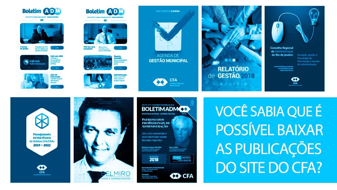 Site do CFA permite que publicações sejam baixadas gratuitamente
