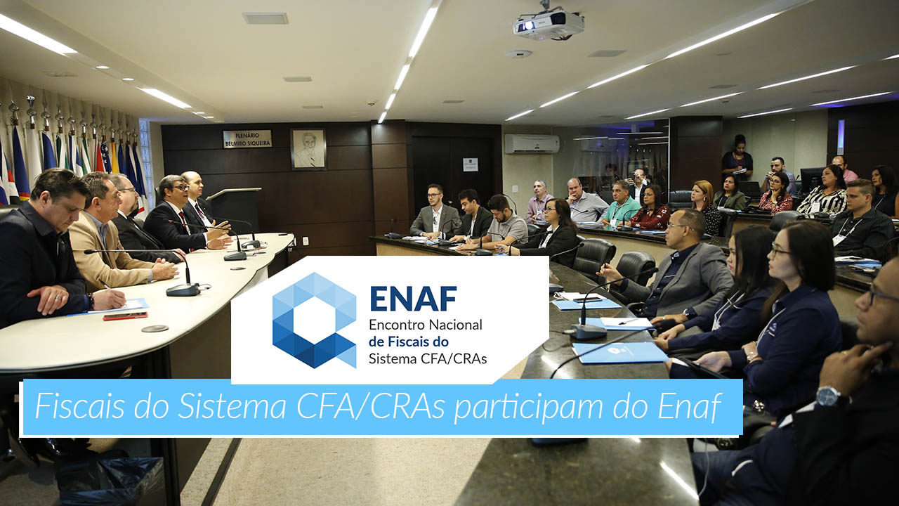 Fiscais do Sistema CFA/CRAs participam do Enaf