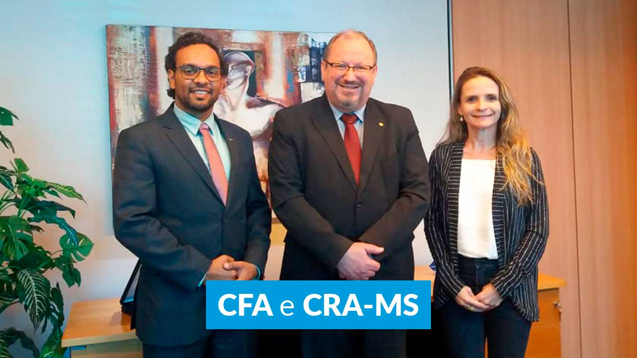 CFA recebe visita do presidente do CRA-MS