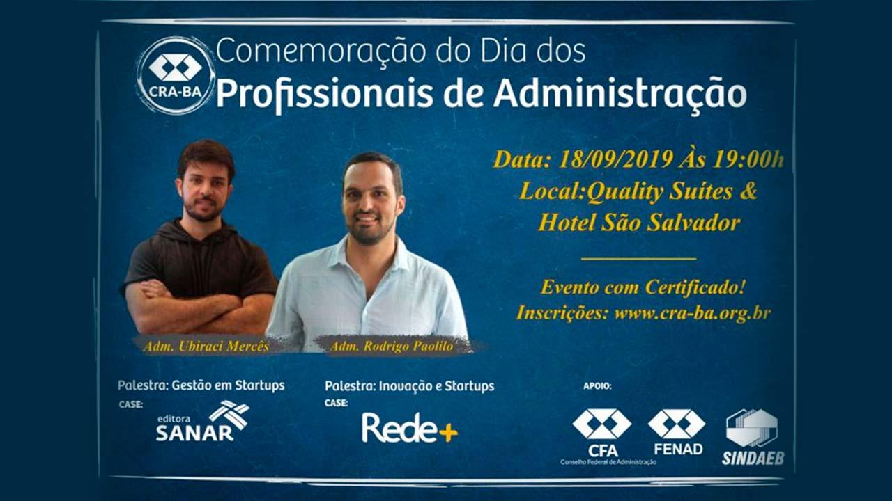 CRA-BA: evento celebra Dia do Profisional de ADM