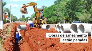Mais da metade das obras paradas no país são de saneamento