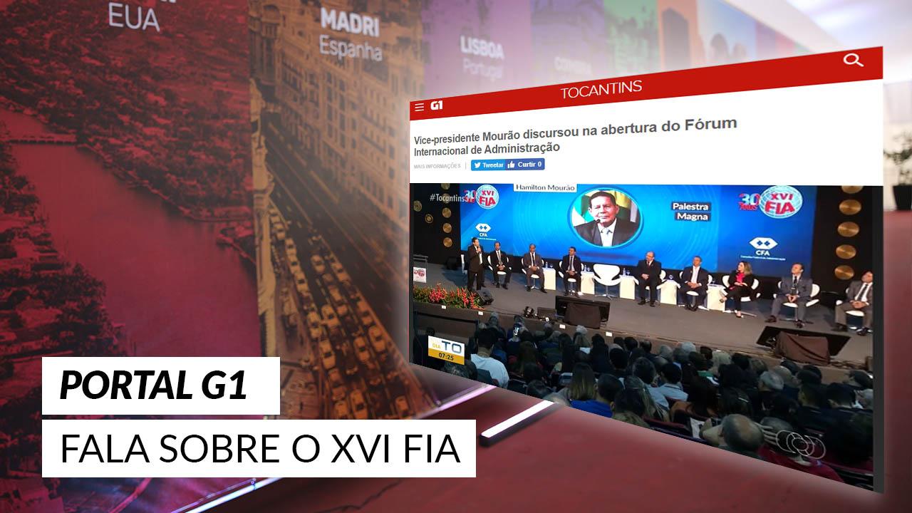 XVI FIA na mídia: evento é destaque no Portal G1