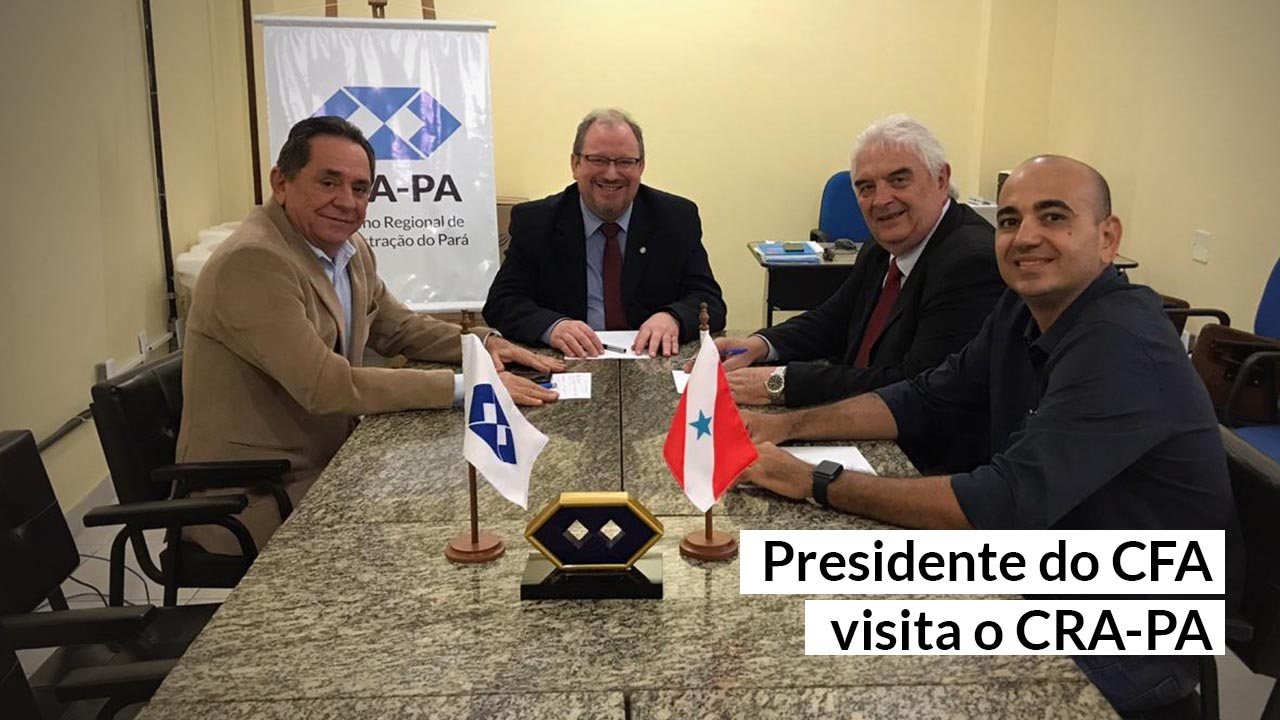 CRA-PA recebe visita do presidente do CFA, Mauro Kreuz