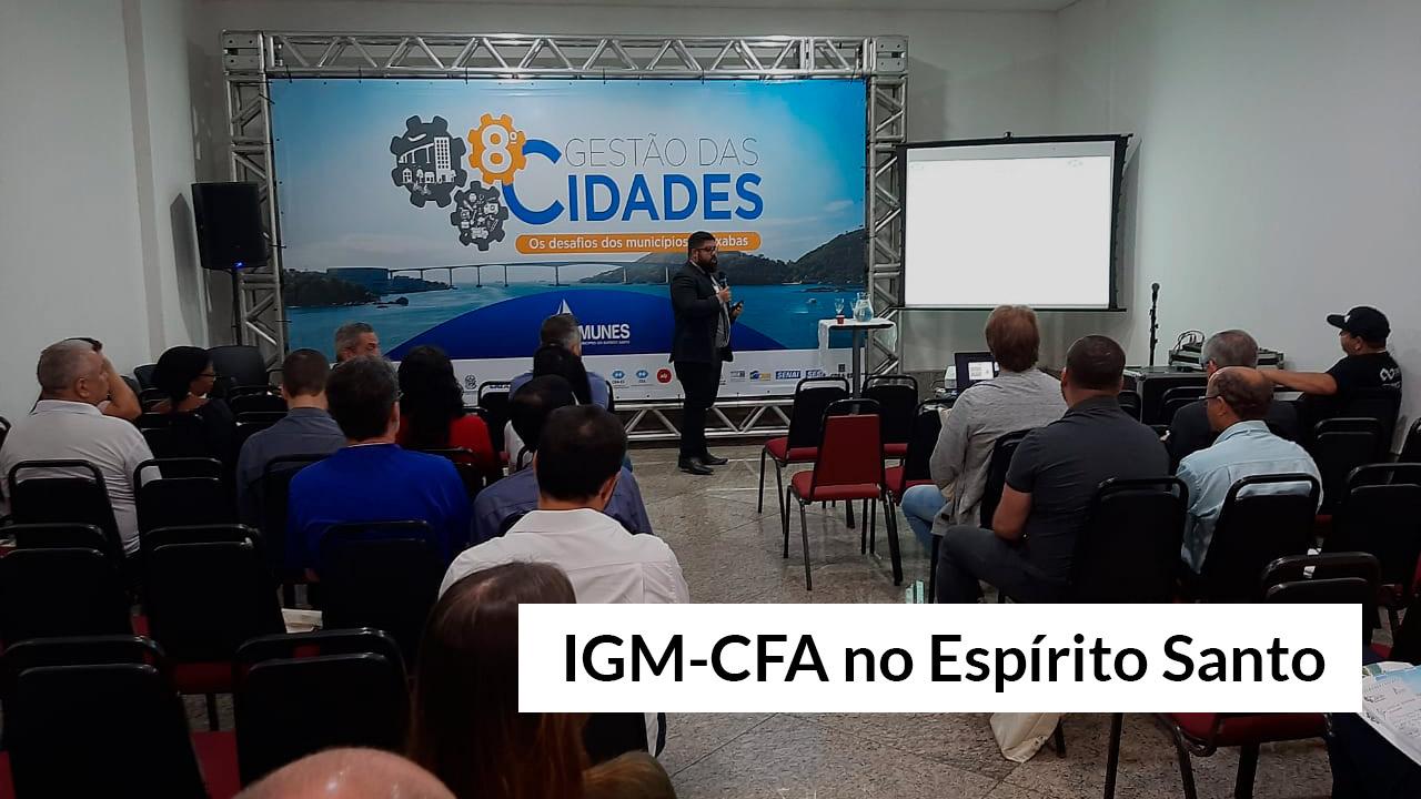 IGM é apresentado no congresso Gestão das Cidades