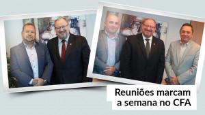 Mauro Kreuz recebe presidentes do CRAs do Ceará e do Maranhão