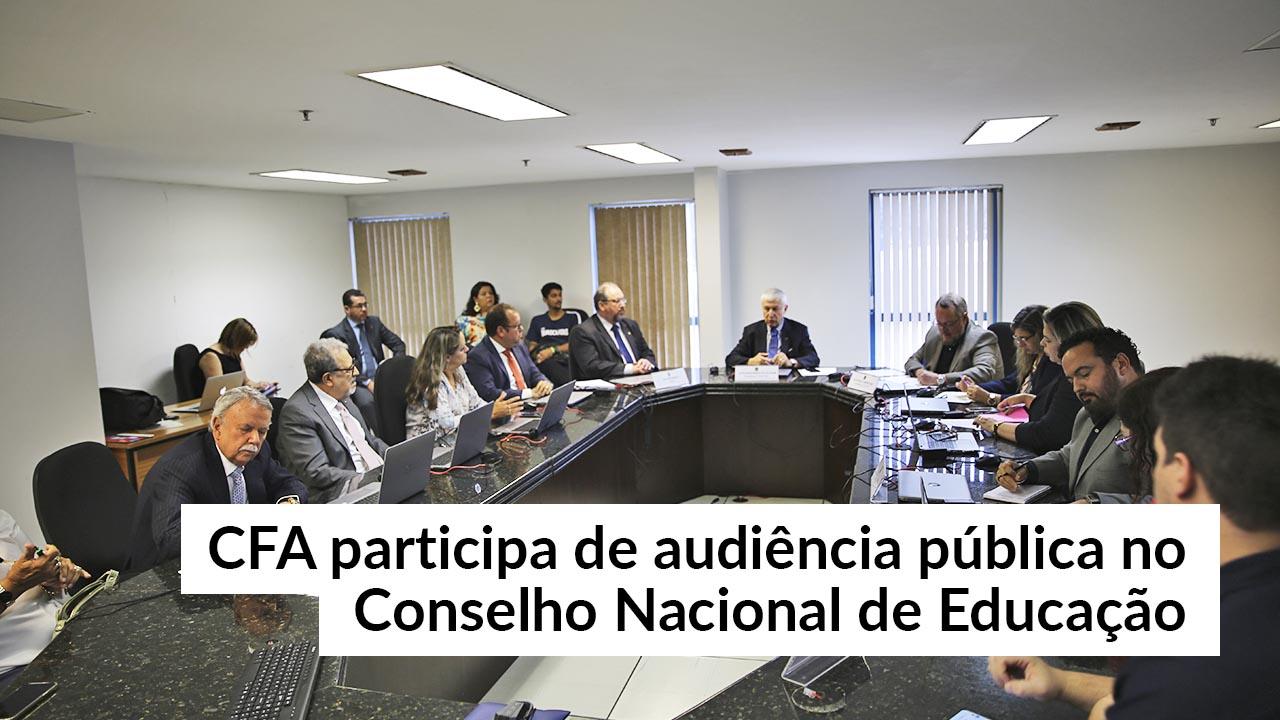 CFA vai ao CNE discutir qualidade do ensino da Administração