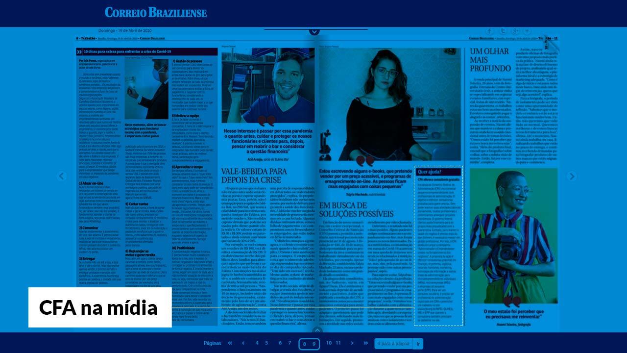 Correio Braziliense destaca campanha promovida pelo CFA