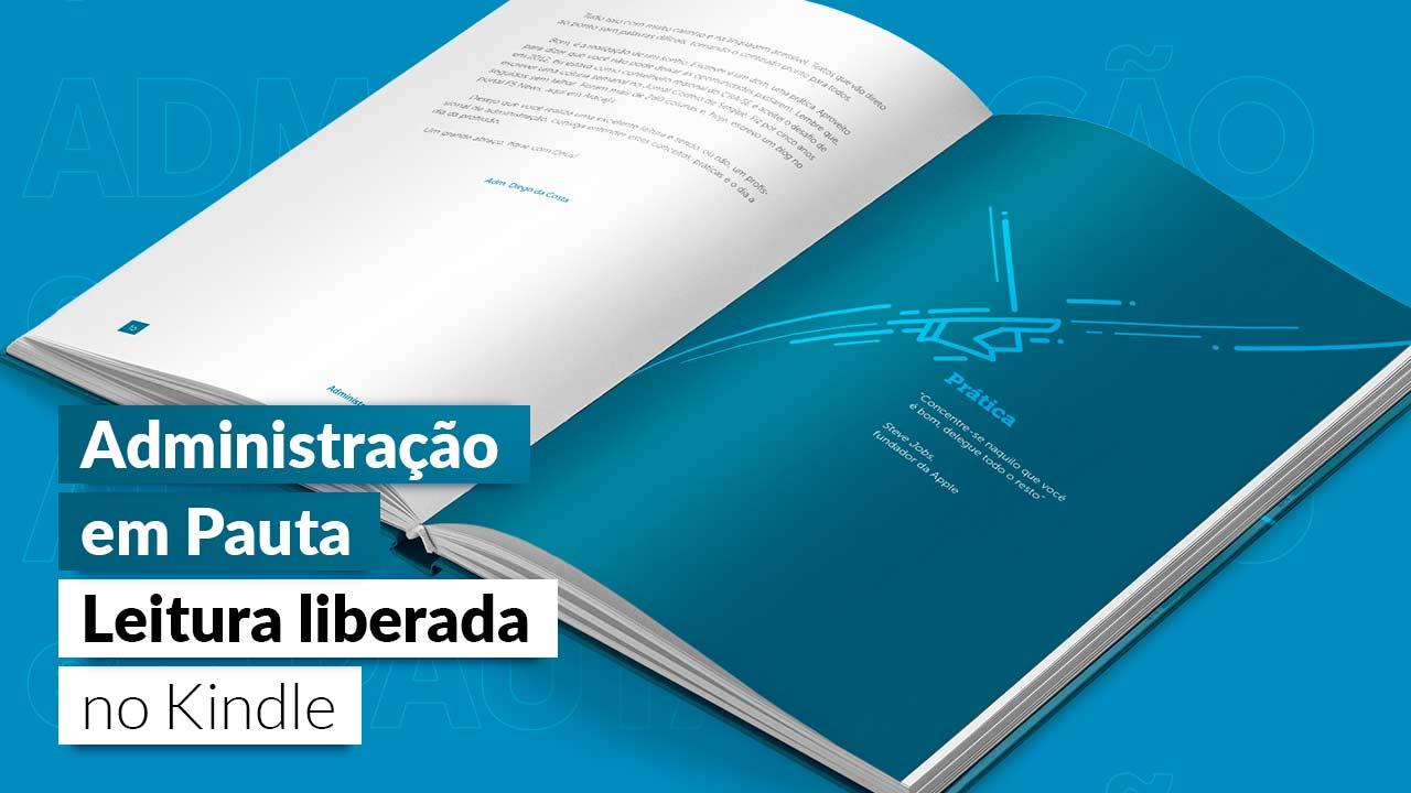 E-book 'Administração em pauta' pode ser lido gratuitamente na Amazon