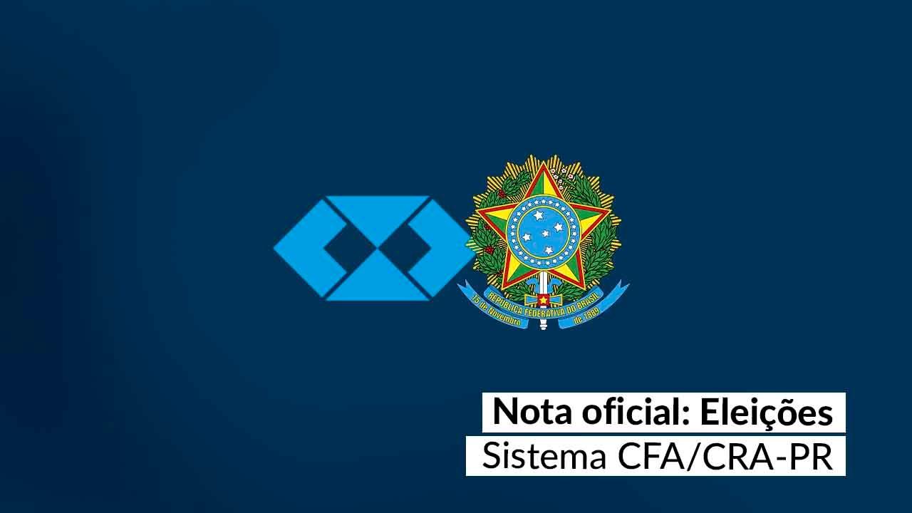 Nota oficial da CPE/CFA sobre as eleições do CRA-PR