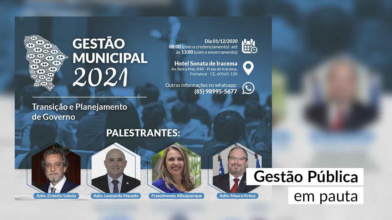 """IGM-CFA será tema de palestra no evento """"Gestão Municipal 2021"""""""