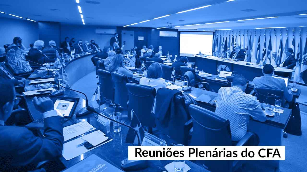 Últimas Reuniões Plenárias de dezembro encerram as atividades do CFA neste ano