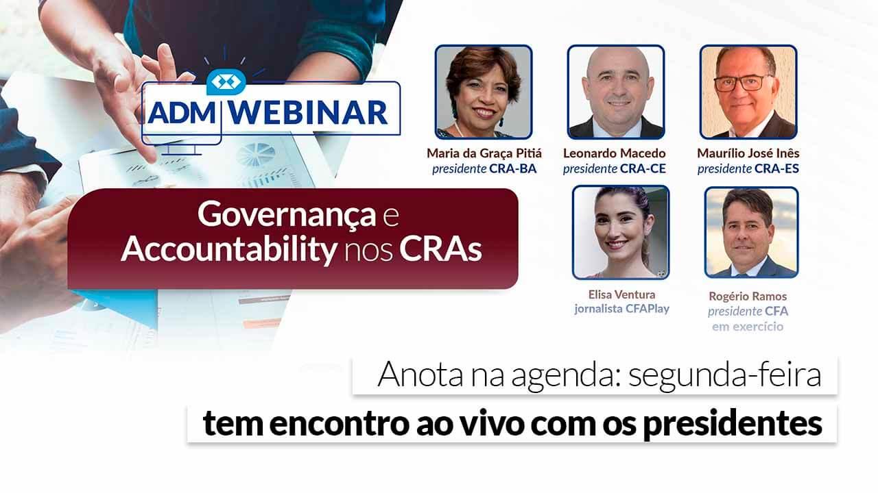 CFA lança webinar Governança e Accountability nos CRAs