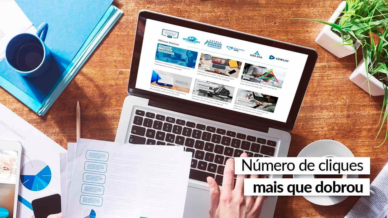 Portal do CFA supera os 100 mil usuários em março
