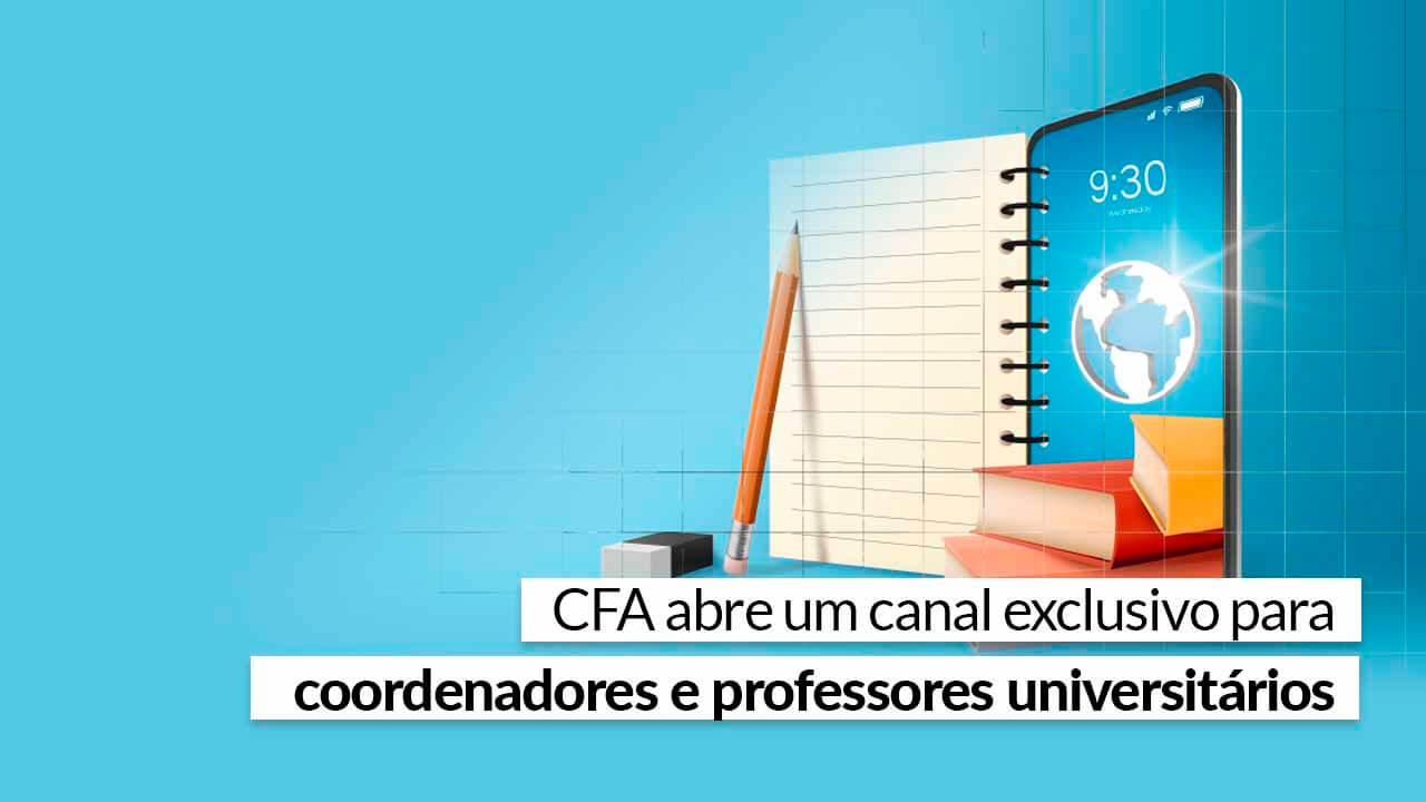 Faça parte e conheça as iniciativas do CFA e CRAs para o mundo acadêmico