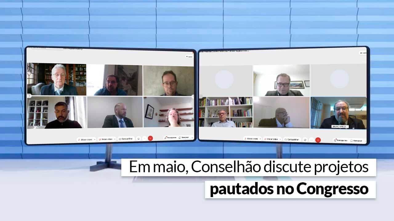 Reunião foi realizada on-line, respeitando o momento da pandemia