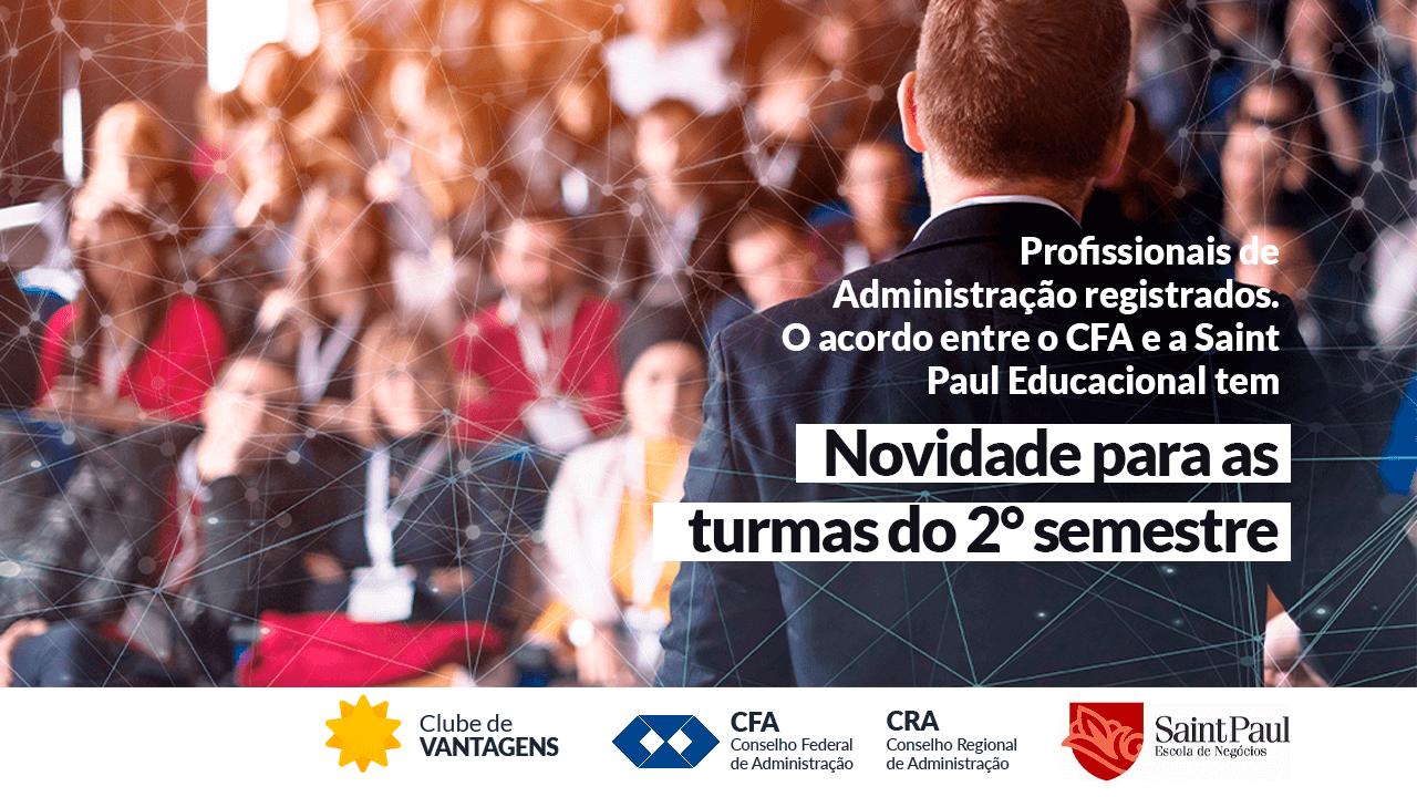 Read more about the article Parceria entre CFA e Saint Paul Educacional aumenta percentual de descontos